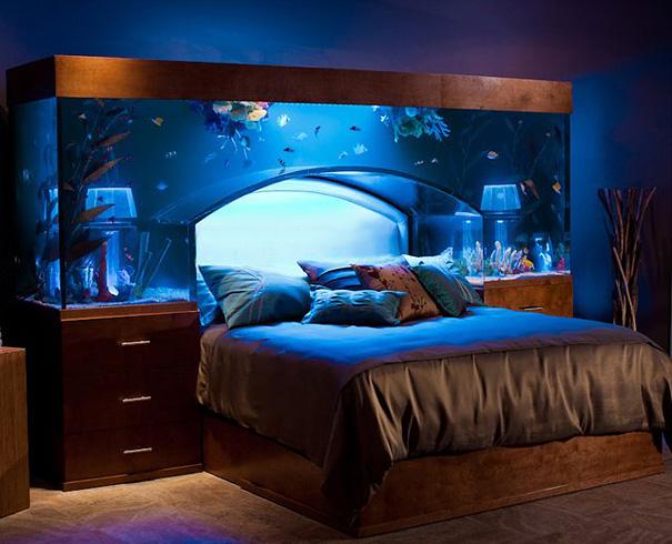 Удивительная кровать-аквариум